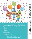 birthday invitation design ... | Shutterstock .eps vector #293756024
