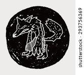 werewolf doodle | Shutterstock . vector #293756369