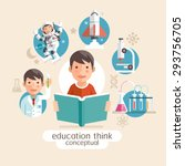 education thinking conceptual.... | Shutterstock .eps vector #293756705