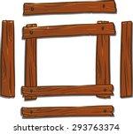 Cartoon Wooden Frame