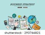 drawing flat design... | Shutterstock .eps vector #293766821