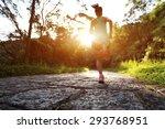 runner athlete running on... | Shutterstock . vector #293768951