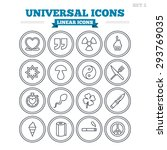 universal linear icons set.... | Shutterstock .eps vector #293769035