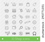 thin line 30 shop and commerce... | Shutterstock .eps vector #293771351