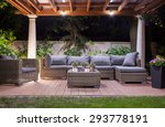 Horizontal View Of Modern Patio ...