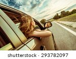 Happy Beautiful Girl Traveling...