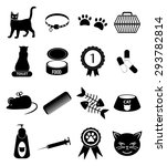 pet cat icons set | Shutterstock .eps vector #293782814