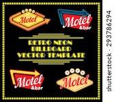 retro neon motel billboard... | Shutterstock .eps vector #293786294