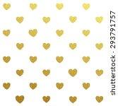 gold glittering seamless... | Shutterstock .eps vector #293791757