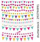 vector bunting decoration set | Shutterstock .eps vector #293794991