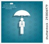 man with umbrella | Shutterstock .eps vector #293806979