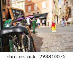 closeup of a worn out bicycle... | Shutterstock . vector #293810075