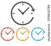 clock icon  twenty four hour | Shutterstock .eps vector #293810789