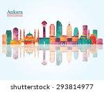 ankara skyline. vector... | Shutterstock .eps vector #293814977