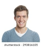 happy young man with big toothy ... | Shutterstock . vector #293816105