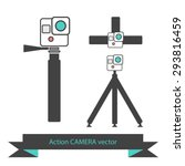 action camera icons | Shutterstock .eps vector #293816459
