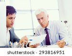 two businessman in office... | Shutterstock . vector #293816951