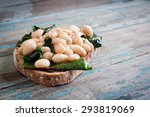 white cannellini beans  spinach ... | Shutterstock . vector #293819069
