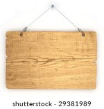 empty notice board made of old... | Shutterstock . vector #29381989