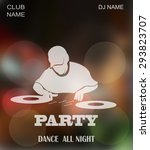 dance party  dj battle design... | Shutterstock .eps vector #293823707