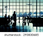 international airport commuter...   Shutterstock . vector #293830685