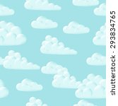 blue sky and clouds seamless... | Shutterstock .eps vector #293834765