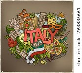 italy country hand lettering... | Shutterstock .eps vector #293836661