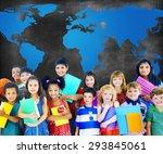 global globalization world map... | Shutterstock . vector #293845061