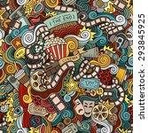 cartoon doodles hand drawn... | Shutterstock .eps vector #293845925