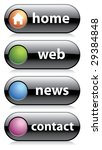 black web buttons  home  web ... | Shutterstock .eps vector #29384848