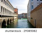 View of a canal in Venice, Italy - stock photo