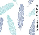 feather seamless background.... | Shutterstock .eps vector #293853311