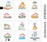 home insurance policy... | Shutterstock .eps vector #293858261