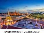 grand palace and wat phra keaw... | Shutterstock . vector #293862011