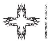 tattoo tribal vector design...   Shutterstock .eps vector #293864864