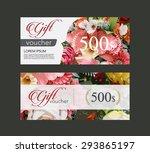 voucher template flowers on... | Shutterstock .eps vector #293865197