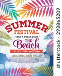 poster summer party and brochure | Shutterstock .eps vector #293865209