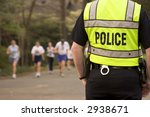 police security at a foot race | Shutterstock . vector #2938671