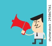 advertising businessman cartoon ... | Shutterstock .eps vector #293867561