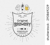 brewery badges logos and labels ... | Shutterstock .eps vector #293869229