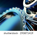 3d illustration of gear metal... | Shutterstock . vector #293871419