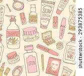 hand drawn vector seamless...   Shutterstock .eps vector #293875385