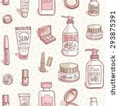hand drawn vector seamless... | Shutterstock .eps vector #293875391