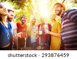 friend celebrate party picnic... | Shutterstock . vector #293876459