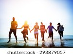 friendship freedom beach summer ... | Shutterstock . vector #293879057