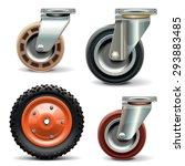 vector trolley wheel | Shutterstock .eps vector #293883485