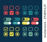flat web design elements. on...