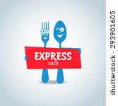 fast food  express cafe logo... | Shutterstock .eps vector #293901605
