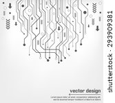 abstract technology circuit... | Shutterstock .eps vector #293909381