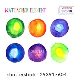 abstract hand drawn watercolor... | Shutterstock .eps vector #293917604